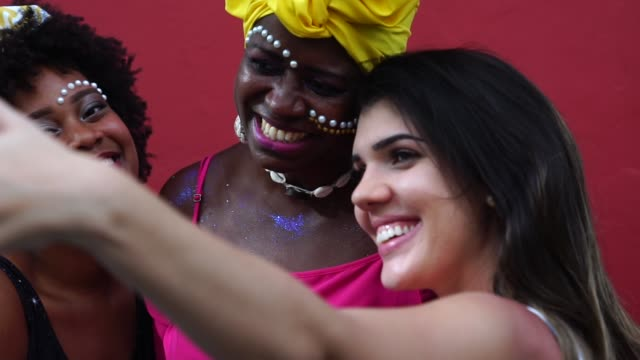 selfie to local latin america people - greeting stock videos & royalty-free footage