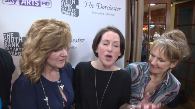INTERVIEW Selfish Giant on winning an award and the inspiration behind the film at South Bank Sky Arts Award at Dorchester Hotel on January 27 2014...