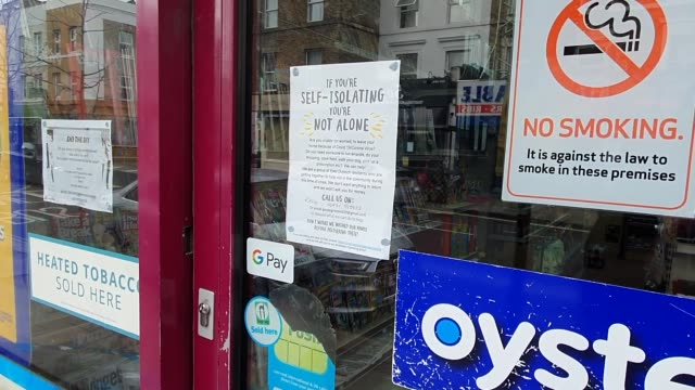 a selfisolating community goodwill poster seen in a newsagents window during the coronavirus pandemic in east dulwich on march 17 2020 in london... - brian dayle coronavirus stock videos & royalty-free footage