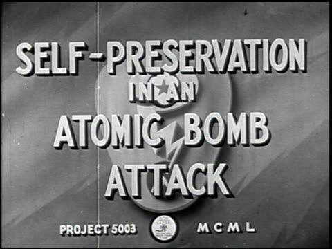 self-preservation in an atomic bomb attack - 1 of 17 - air raid stock-videos und b-roll-filmmaterial