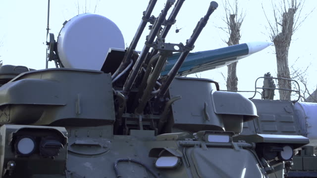 self-propelled anti-aircraft weapon - weaponry stock videos & royalty-free footage