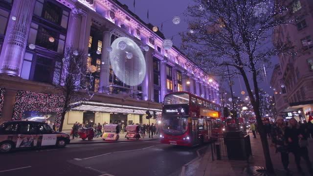 Selfridges at Xmas Oxford Street London