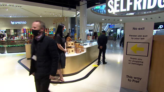 selfridges reopening in birmingham's bullring shopping centre, after the coronavirus lockdown - clothes shop stock videos & royalty-free footage