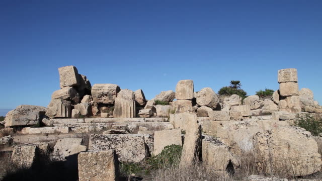 selinunte, acropolis, the faã§ade of temple d 6th century b.c. - 6th century bc stock videos and b-roll footage