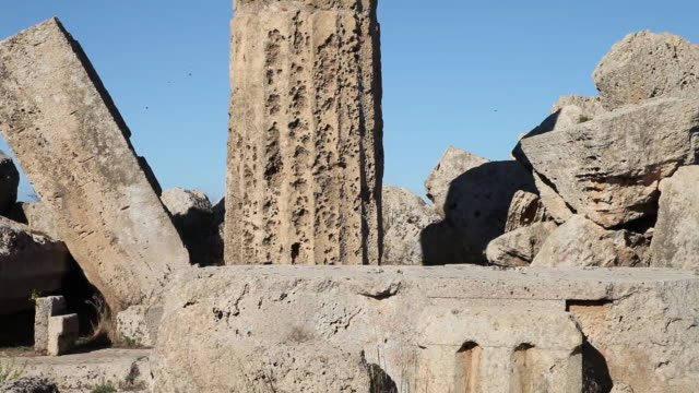 Selinunte, close look of temple F, from the 6th century B.C.