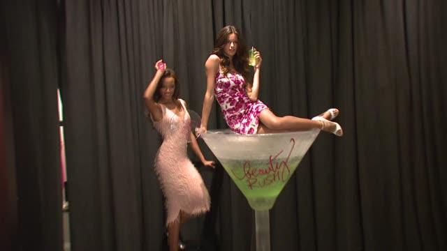 selita ebanks and izabel goulart at the victoria's secret supermodels selita ebanks and izabel goulart toast to summer beauty at victoria's secret in... - 2007 stock-videos und b-roll-filmmaterial