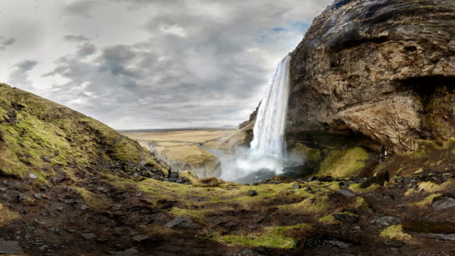 seljalandsfoss waterfall. iceland - seljalandsfoss waterfall stock videos and b-roll footage