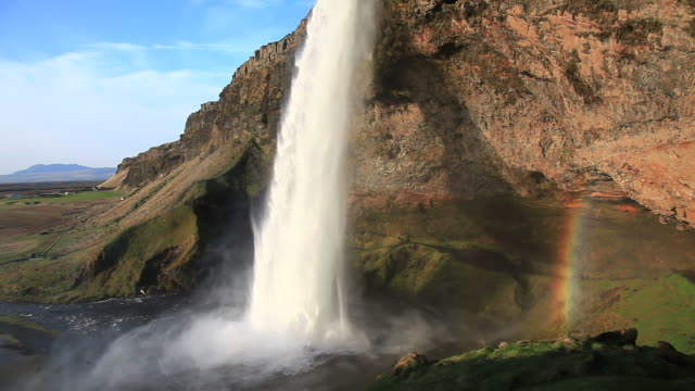 seljalandsfoss waterfall video iceland hd 1080 - seljalandsfoss waterfall stock videos and b-roll footage
