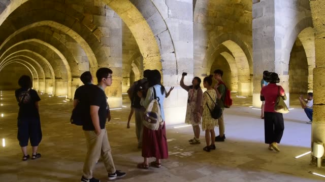 seljuk caravanserai built in the 13th century in present-day turkey is thronged by tourists all year round. the sultanhani caravanserai located in... - new zealand culture stock videos & royalty-free footage