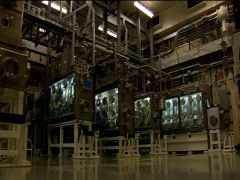 sellafield storage area for mox pellets - kernenergie stock-videos und b-roll-filmmaterial