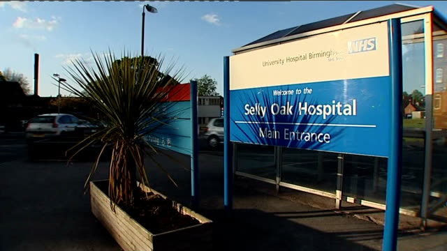 selly oak hospital sign general view of hospital grounds - witness stock videos & royalty-free footage
