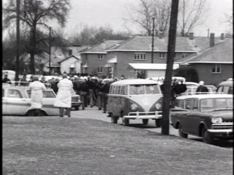 selma, alabama, police approach african-american demonstrators during a voter registration march. - caucasian ethnicity stock videos & royalty-free footage