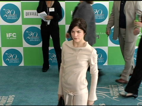 Selma Blair at the 20th Annual Independent Spirit Awards Arrivals and Interviews at Santa Monica in Santa Monica California on February 26 2005