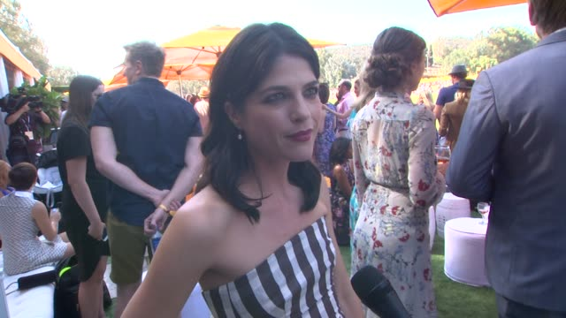 INTERVIEW Selma Blair on being at the event on their polo style and on Halloween plans at the SixthAnnual Veuve Clicquot Polo Classic Los Angeles at...