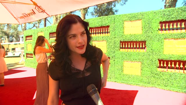 selma blair on her polo style why she wanted to attend the veuve clicquot polo classic having her son as her date how life as a new mom is going if... - marc jacobs designer label stock videos and b-roll footage