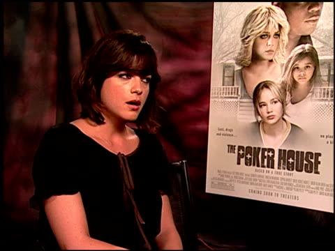 Selma Blair on playing a reallife character at the 'The Poker House' Junket at Los Angeles CA