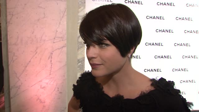 Selma Blair wearing Chanel on being the face of Chanel her favorite Chanel product and the writer's strike at the Chanel Fine Jewelry's 'Night of...