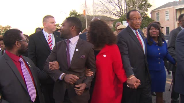 'selma' movie premiere on january 18 2015 in selma alabama - 1965 selma marches stock videos & royalty-free footage