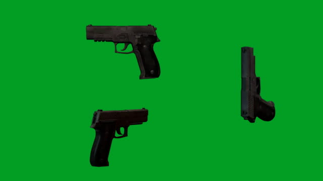 45 acp semi-automatic handguns - arma da fuoco video stock e b–roll