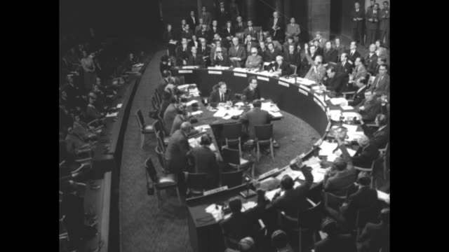 vs semicircular stage of the general assembly in session - 1948 stock videos & royalty-free footage
