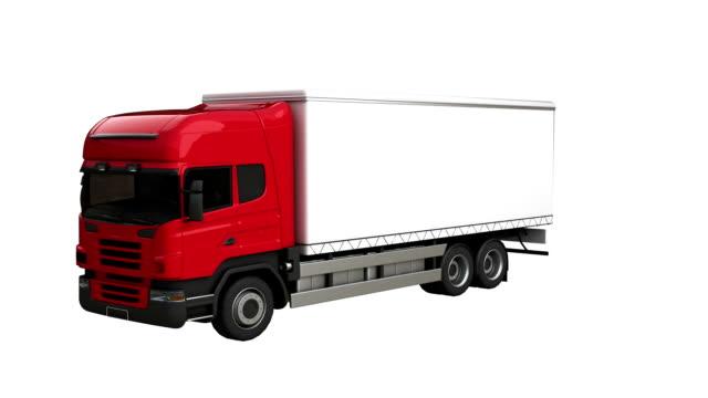 semi-truck spin with luma matte - luma matte stock videos & royalty-free footage
