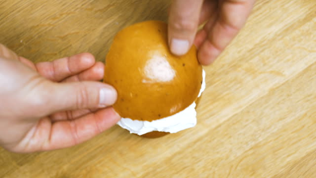 semla: traditional swedish pastry - table top shot stock videos & royalty-free footage