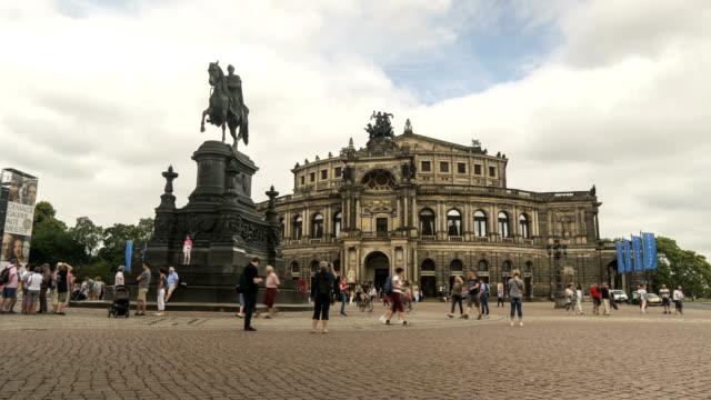 semperoper in dresden, germany - baroque stock videos & royalty-free footage