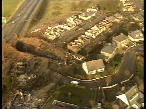 Lockerbie AIRVS Devastated houses crater where Pan Am 747 crashed TRACK RL