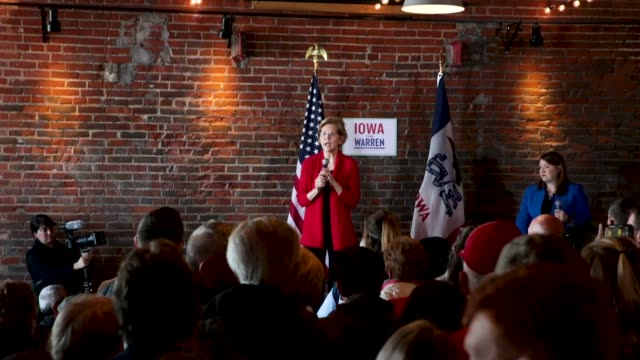 Sen Elizabeth Warren speaks at a campaign rally at the Stone Cliff Winery on March 1 2019 in Dubuque Iowa Warren is campaigning in the state with the...