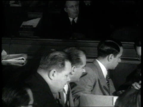 sen joseph mccarthy questions witness at the huac's trial of julius and ethel rosenberg / washington dc united states - joseph raymond mccarthy video stock e b–roll