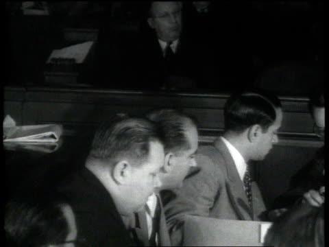 sen joseph mccarthy questions witness at the huac's trial of julius and ethel rosenberg / washington dc united states - ethel rosenberg stock videos & royalty-free footage