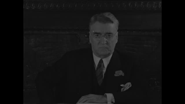 us sen royal samuel copeland chair of us senate commerce committee is seated at desk / note exact month/day not known - boutonniere stock videos and b-roll footage