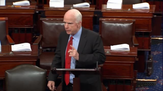 Senate Armed Services Chairman John McCain argues on the defense authorization that if every Senator blocked every vote because his or her amendment...