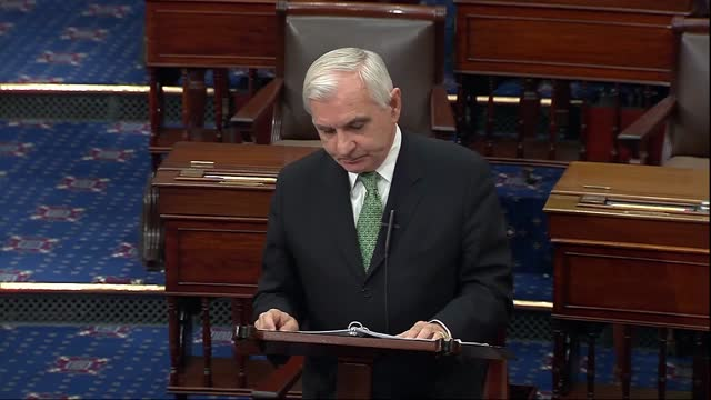 senate armed services committee chairman jack reed of rhode island says in floor speech about us troop withdrawal from afghanistan that after 20... - united states department of defense stock videos & royalty-free footage