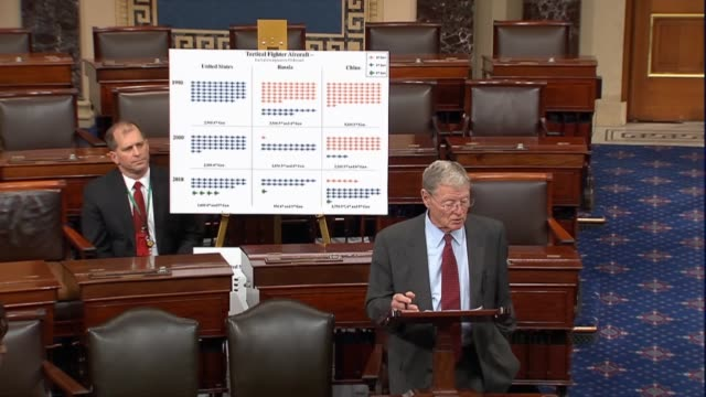 Senate Armed Services Committee Chairman Jim Inhofe of Oklahoma says that jet fighters were more modern and effective than Russians or Chinese had...
