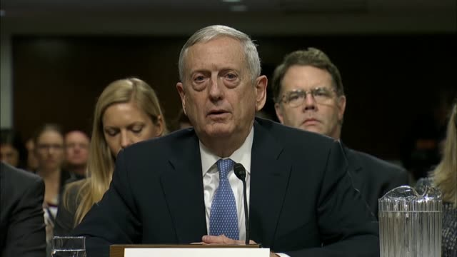 senate armed services committee chairman john mccain tells defense secretary nominee jim mattis that the us is in trouble in afghanistan as greater... - isil konflikt stock-videos und b-roll-filmmaterial