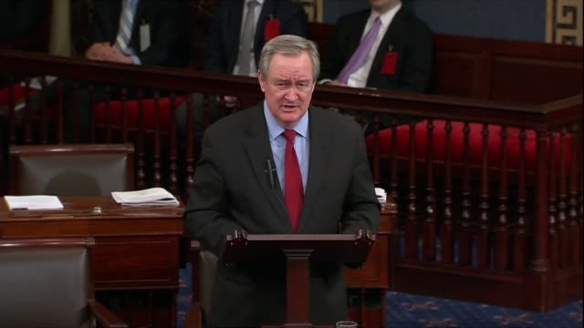 Senate Banking Committee Chairman Mike Crapo answers critics of a finance deregulation bill including the charge that the bill would help big banks...