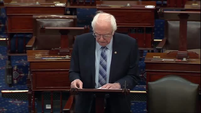 senate budget committee chairman bernie sanders of vermont says ahead of vote series on the american rescue plan that the legislation would be the... - vermont stock videos & royalty-free footage