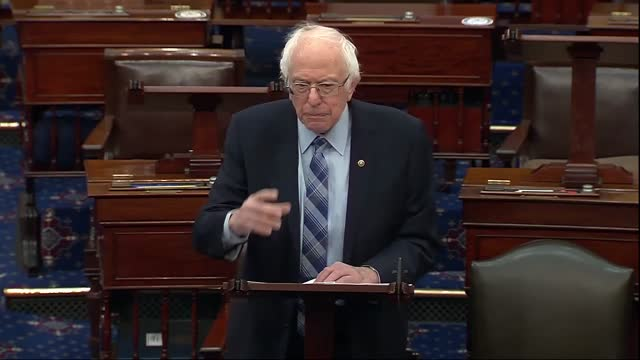 senate budget committee chairman bernie sanders of vermont says ahead of vote series on the american rescue plan that the bill is not just a... - vermont stock videos & royalty-free footage
