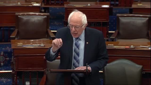 senate budget committee chairman bernie sanders of vermont says ahead of vote series on the american rescue plan that half a million had died in the... - vermont stock videos & royalty-free footage