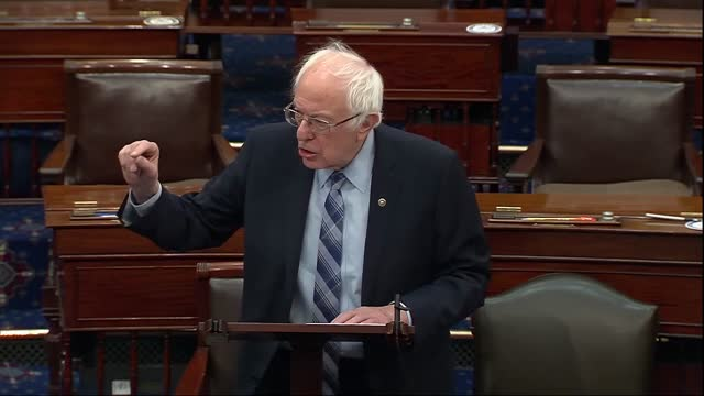 senate budget committee chairman bernie sanders of vermont says ahead of vote series on the american rescue plan that everybody in the senate and he... - vermont stock videos & royalty-free footage
