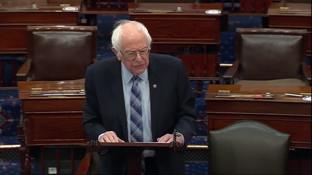 senate budget committee chairman bernie sanders of vermont says ahead of vote series on the american rescue plan that a rather shocking poll had come... - vermont stock videos & royalty-free footage