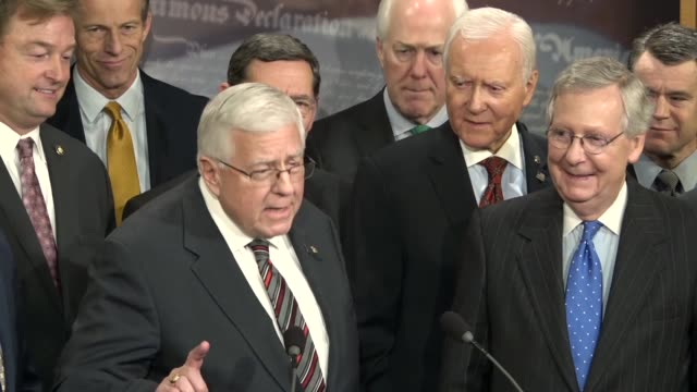 Senate Budget Committee Chairman Mike Enzi says it was a historic night for passing the tax cuts and jobs act that he had never seen so many people...