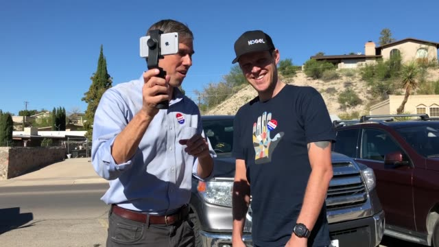 us senate candidate rep beto o'rourke live streams his conversation with a voter who upon learning that his mailin ballot was not accepted flew from... - usa:s senat bildbanksvideor och videomaterial från bakom kulisserna