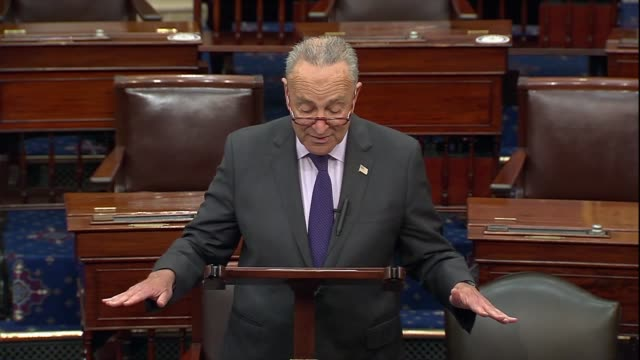 senate democrat leader chuck schumer of new york says continuing floor remarks about the trump administration handling of coronavirus that the past... - human back stock videos & royalty-free footage