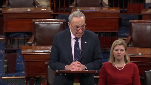 senate democratic leader chuck schumer of new york says the senate was being asked to confirm the go to guy in north carolina in thomas alvin farr... - carolina del nord stato usa video stock e b–roll