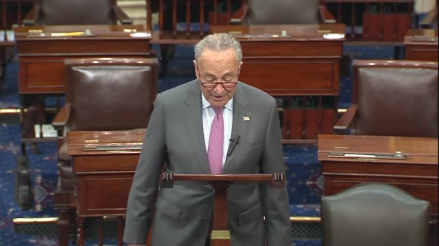 senate democratic leader chuck schumer says in senate floor remarks on the heals act coronavirus relief package that the idea among republicans to... - human back stock videos & royalty-free footage