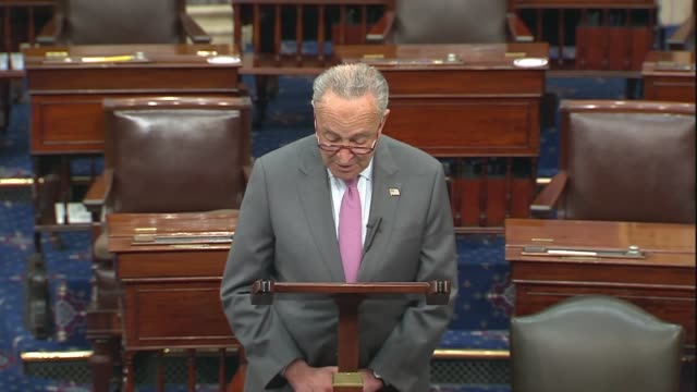 senate democratic leader chuck schumer says in senate floor remarks on the heals act coronavirus relief package that the republican plan fell... - five dollar bill stock videos & royalty-free footage