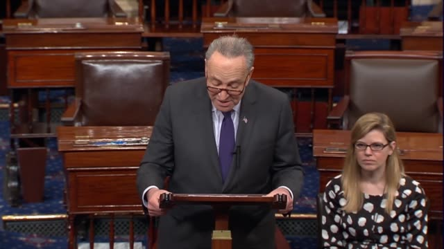 Senate Democratic leader Chuck Schumer says that the Senate has a duty to exhaustively review the record of Supreme Court nominee judge Neil Gorsuch...