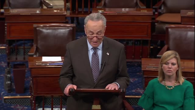 senate democratic leader chuck schumer tells president donald trump the special counsel investigation is not a witch hunt when 17 russians were... - christopher a. wray stock videos & royalty-free footage